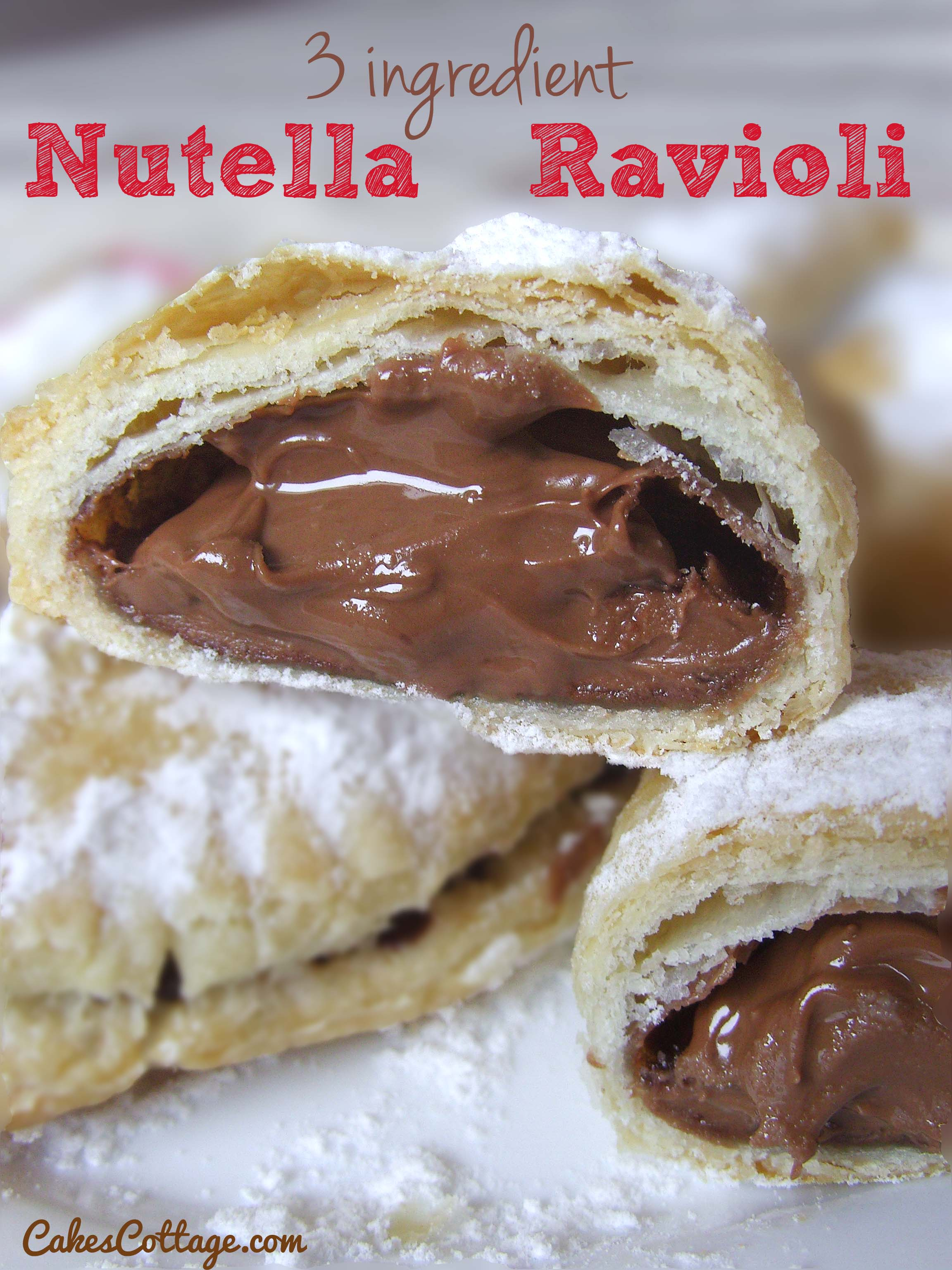 Three Ingredient Nutella Ravioli Cakescottage
