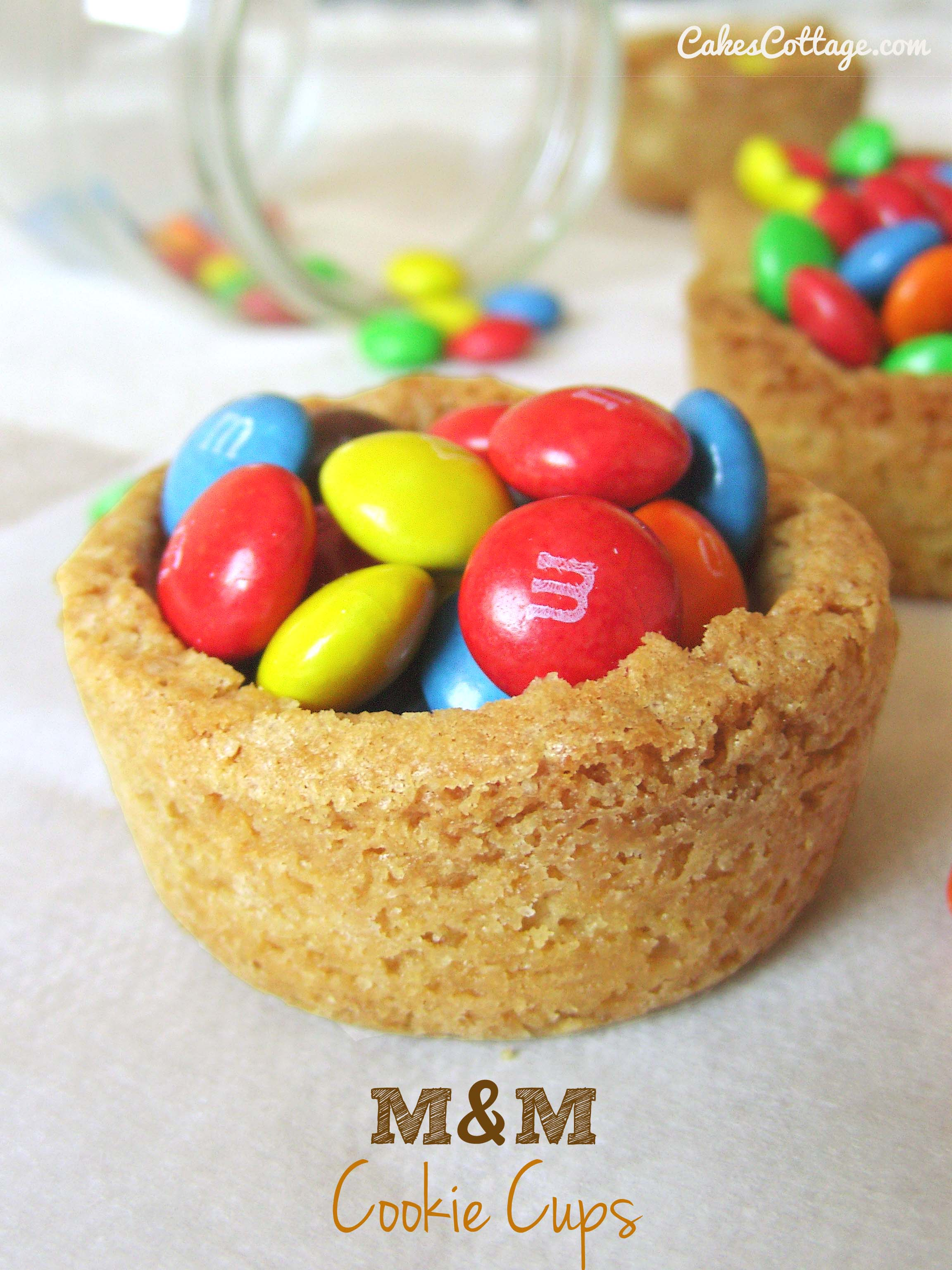 M&M Cookie Cups