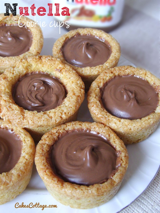 nutella cookie cups cakescottage. Black Bedroom Furniture Sets. Home Design Ideas