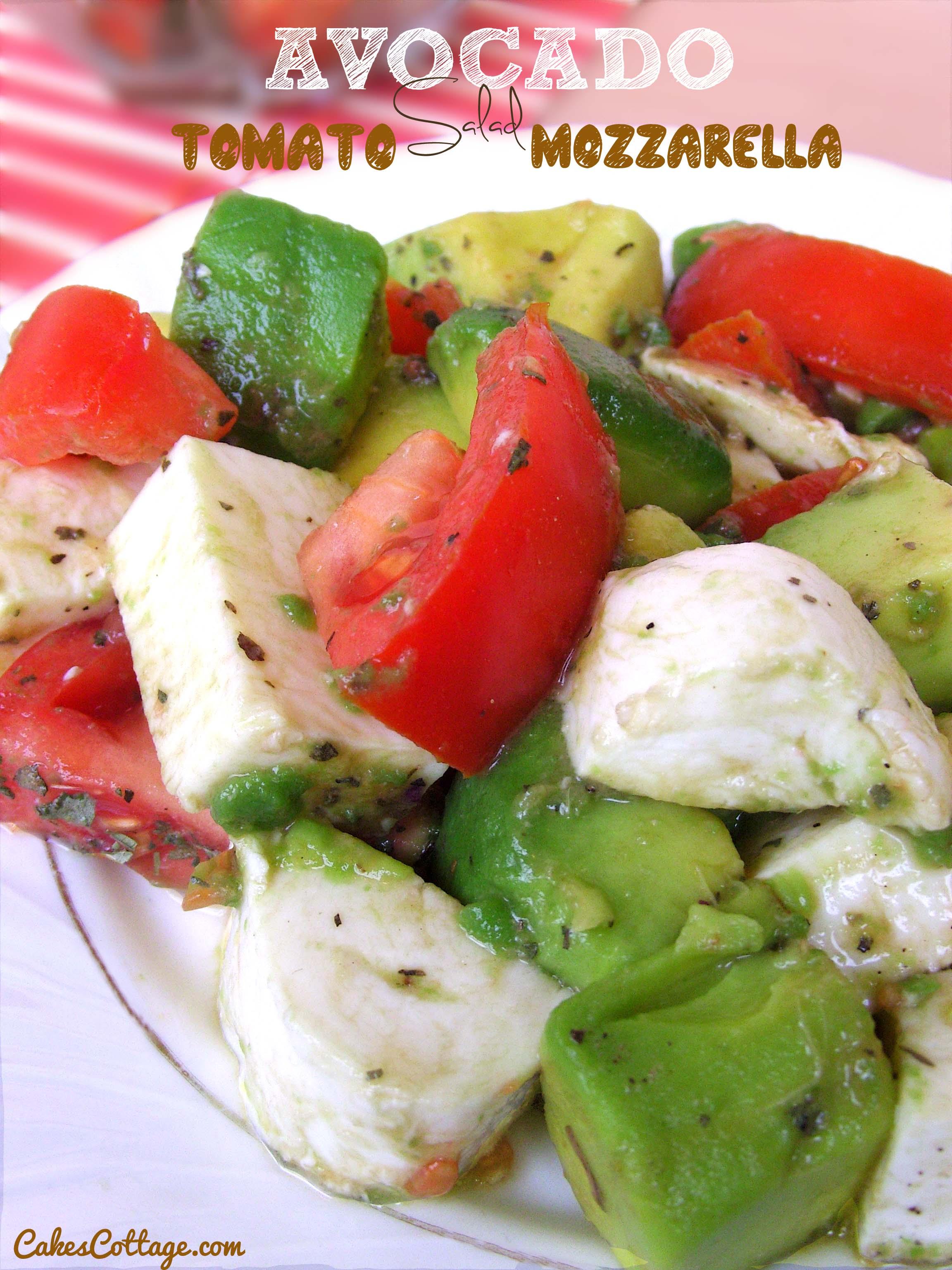 Mozzarella-Avocado-Tomato-Salad