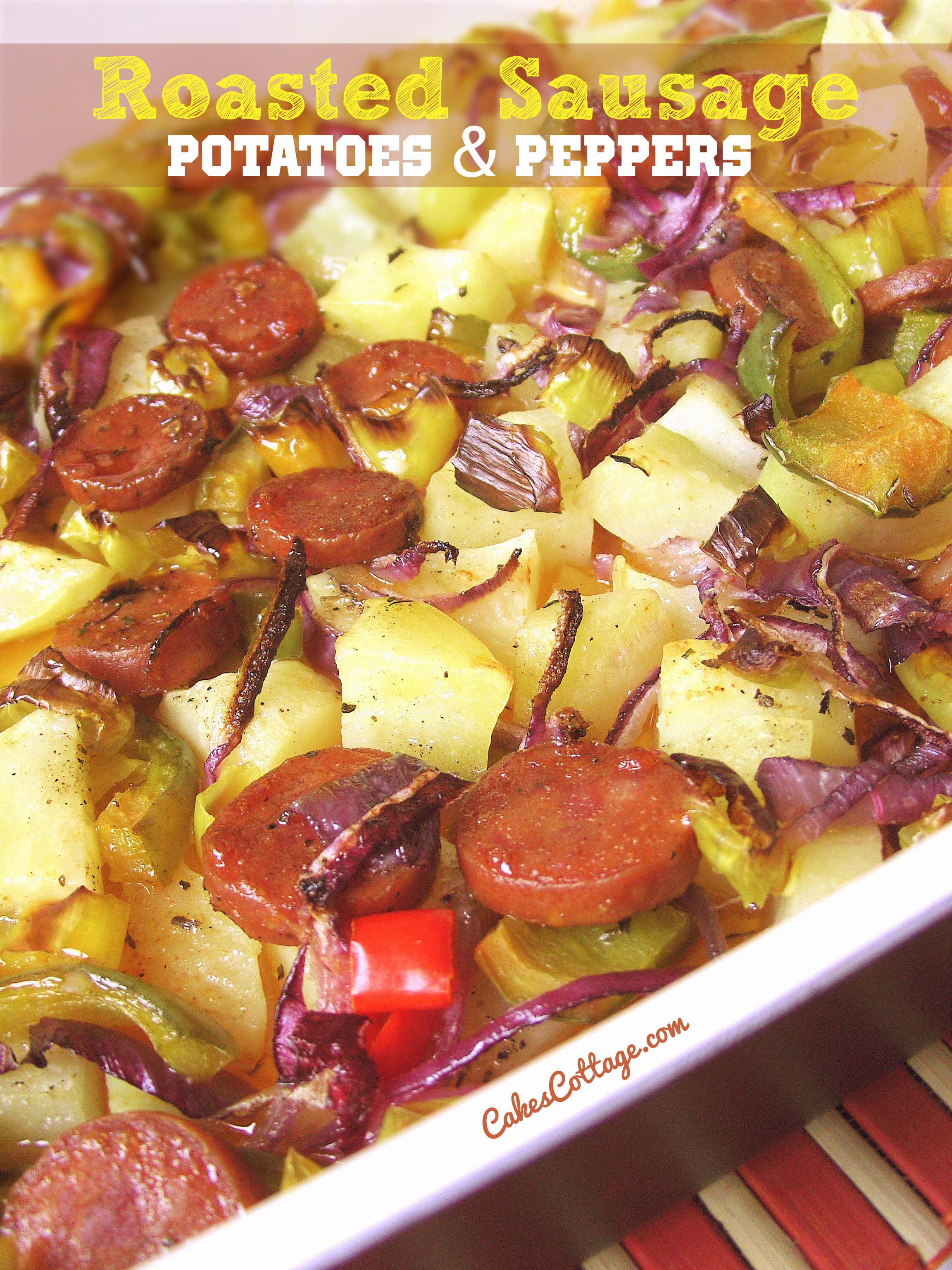 Oven-Roasted-Sausage-Potatoes-Peppers