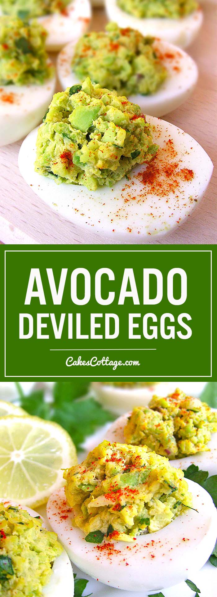 Avocado Deviled Eggs - An easy way to twist your deviled egg recipe for Easter.