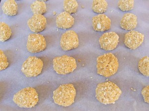 Peanut Butter Balls with Rice Krispies