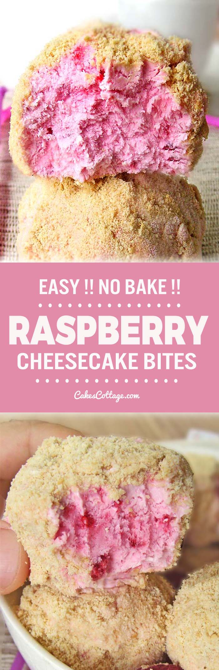 Perfect spring/summer treat for the cheesecake & raspberry lovers!
