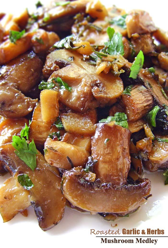 Roasted-Garlic & Herb-Mushroom-Medley-Recipe