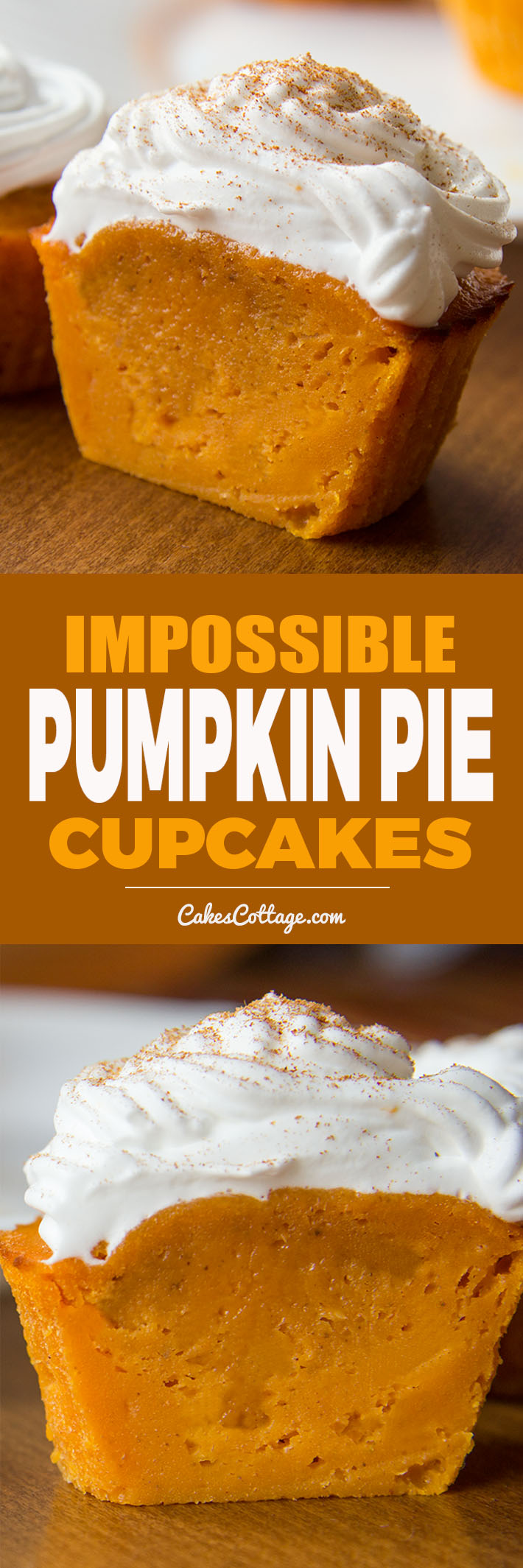 Impossible Perfect Fall treat! De-lic-ious Pumpkin Pie Cupcakes