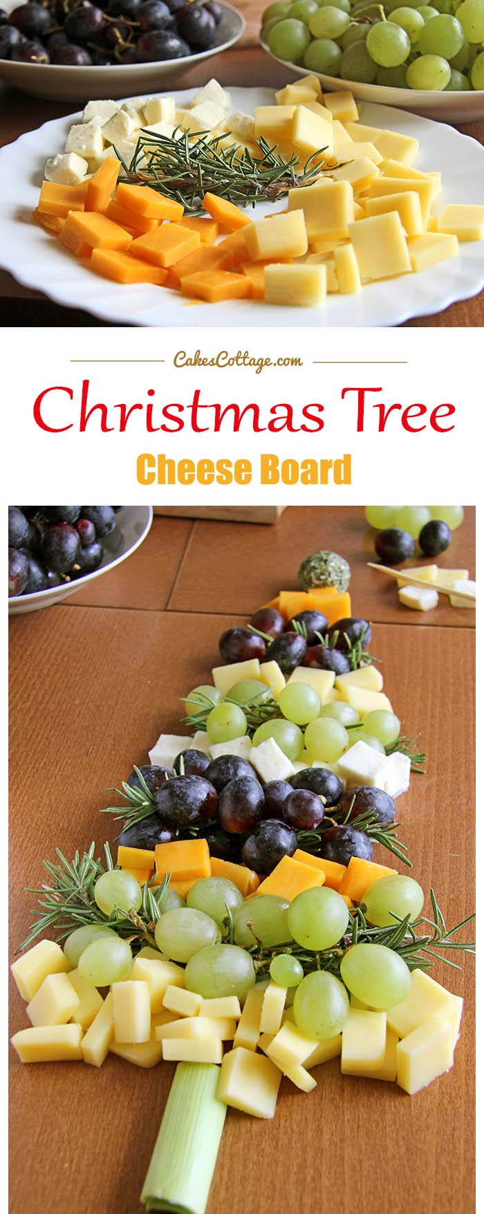 Christmas Tree Cheese Board Cakescottage
