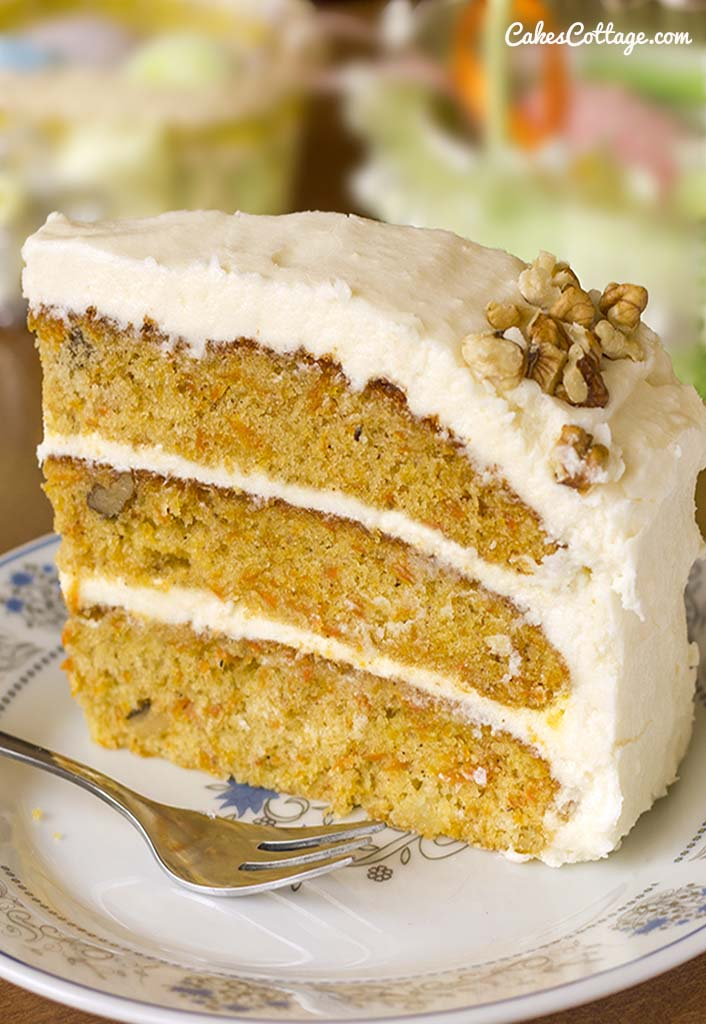 Carrot Cake With Cream Cheese Frosting Cakescottage