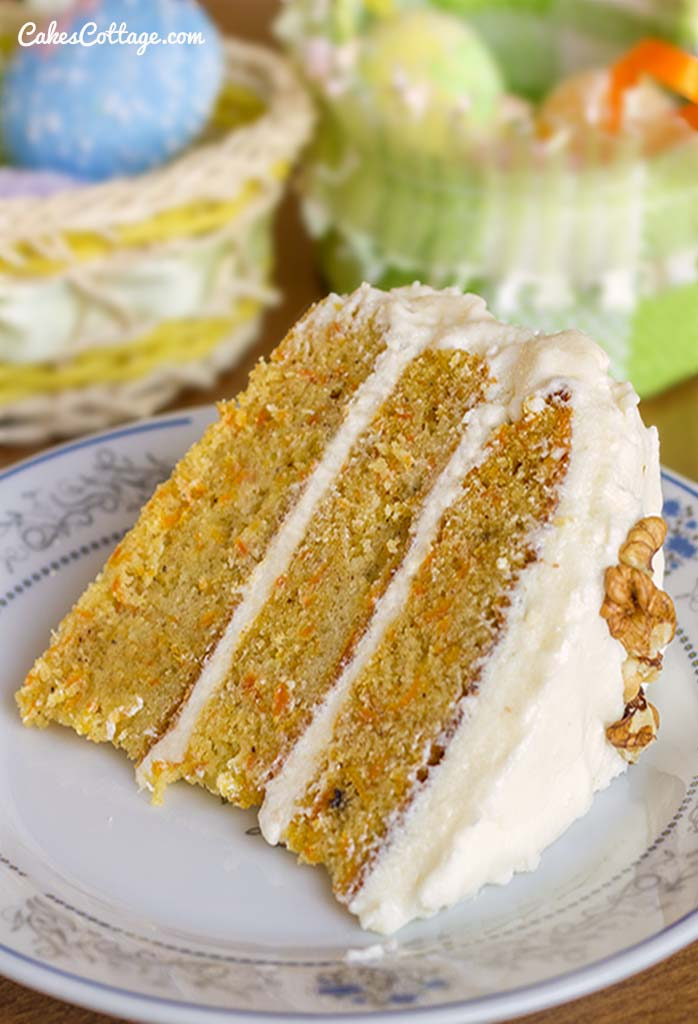Carrot Cake With Cream Cheese Frosting Recipe — Dishmaps