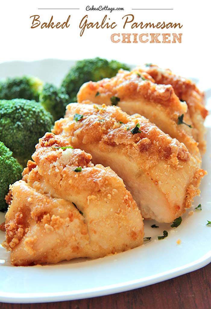 Baked Garlic Parmesan Chicken | Cakescottage