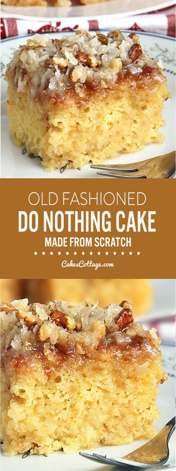 This cake is not only made from scratch but so ridiculously easy to make.....