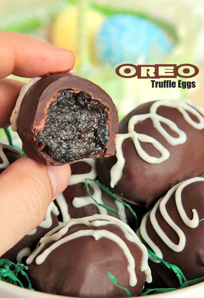 Easter is on the way and so are the Oreo Truffle Eggs! And if you have been searching for a quick and easy, totally adorable, Easter gift, look no further. #easter #oreo #eggs