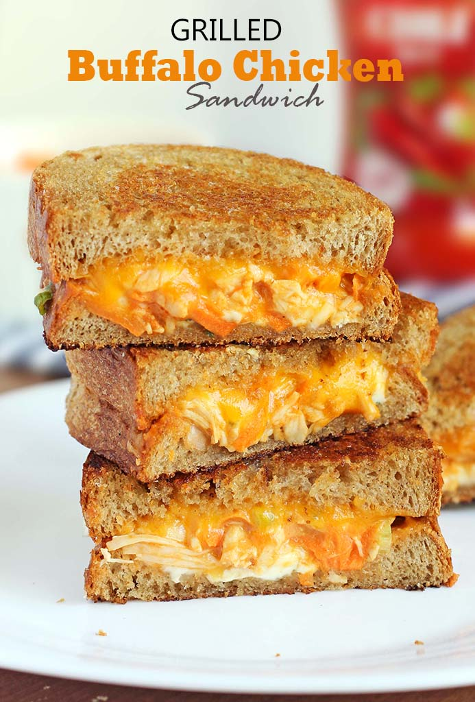 Might I suggest you to grab a spicy, meaty, funky, cheesy Grilled Buffalo Chicken Sandwich with a melted chedder and blue cheese running down the side.