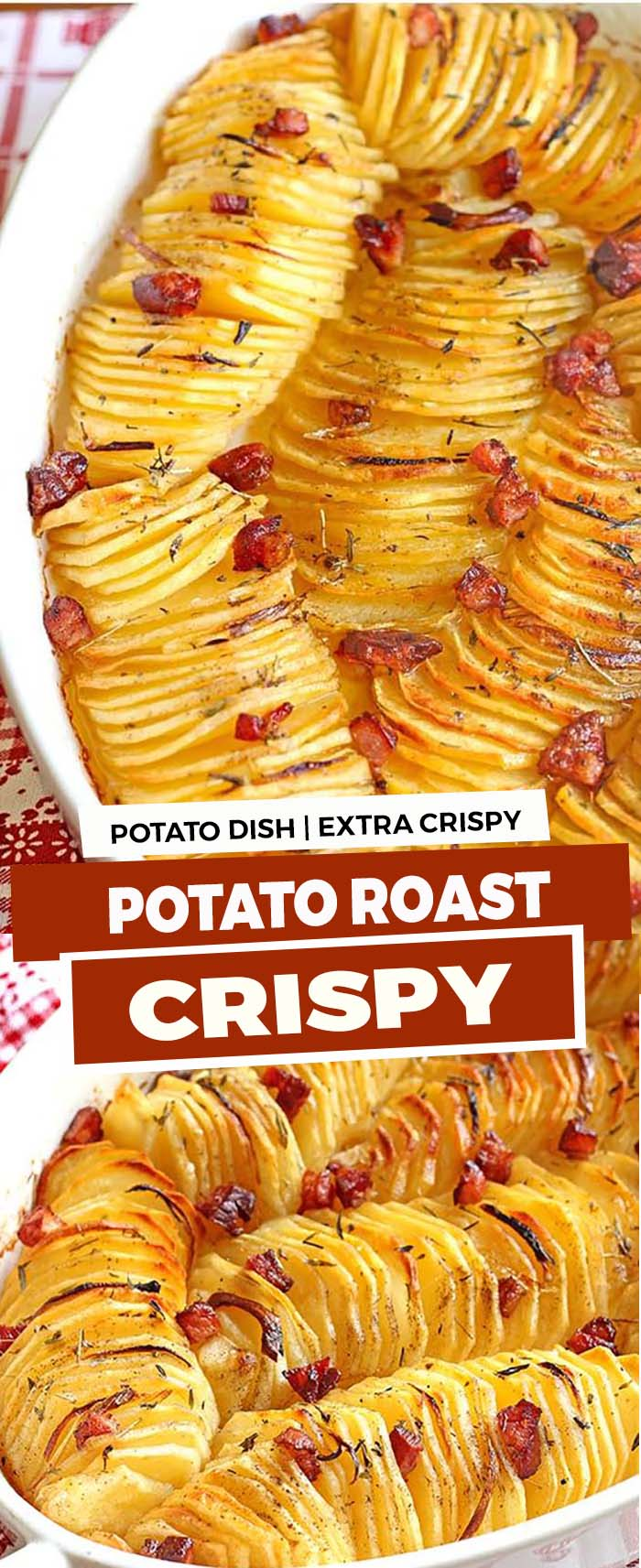 Learn how to make the best crispy roasted potatoes. Crispy on the outside, tender on the inside and flavored with butter, olive oil and thyme.