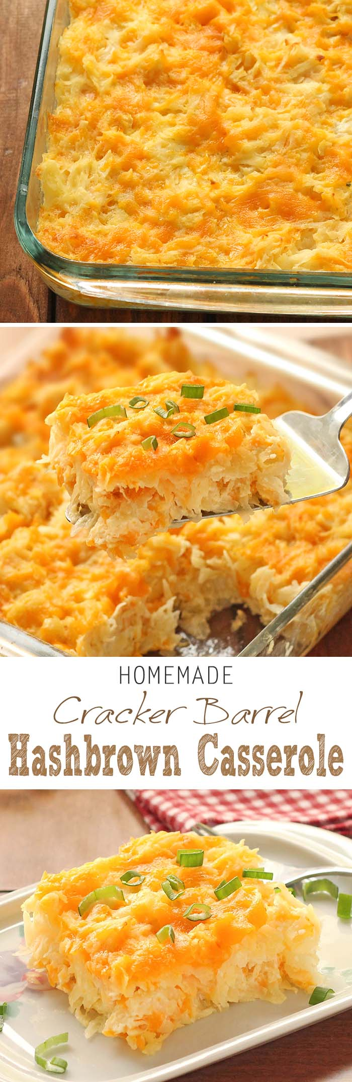 Homemade Cracker Barrel HashBrown Casserole is super easy to whip up ...