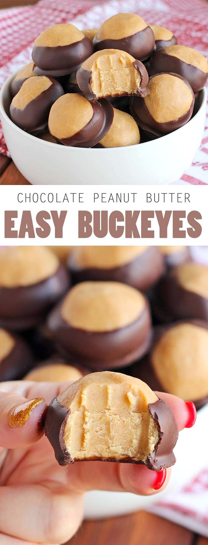 Seriously, you need to make these easy buckeyes. They're so good, so easy....so delish!