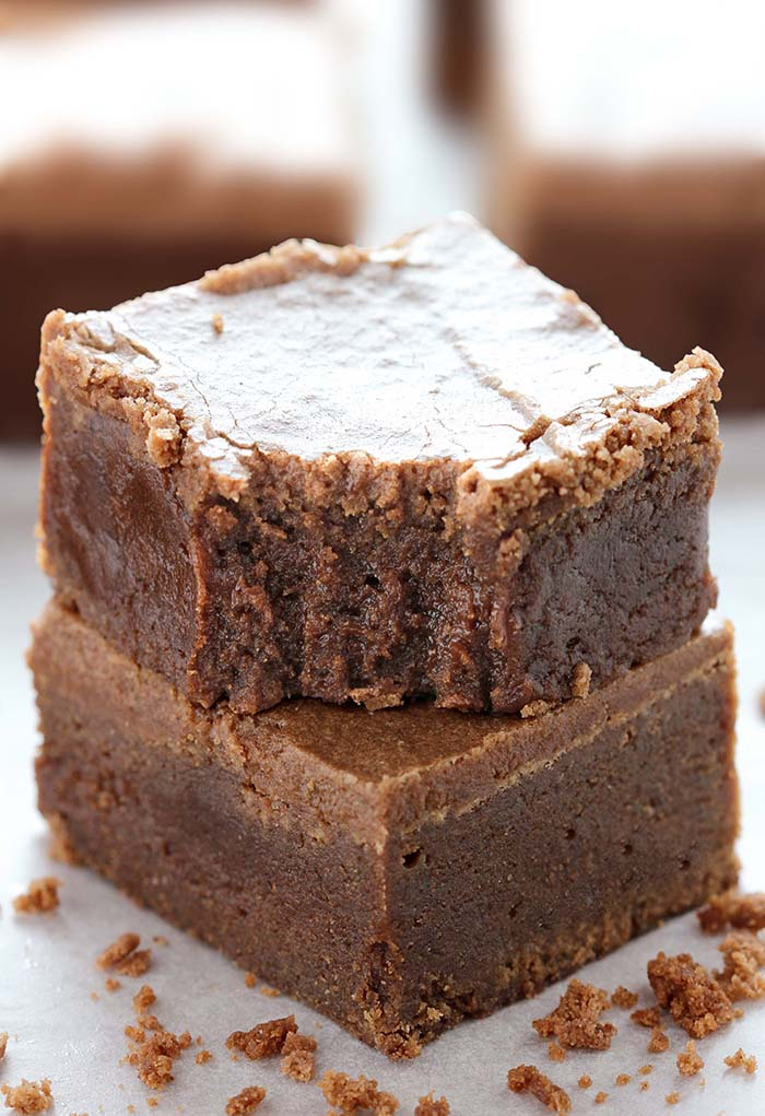 These Lunch Lady Brownies are chocolate lovers dream, perfectly rich, fudgy and full of chocolaty goodness. So if this if your preference, try this traditional brownie recipe!