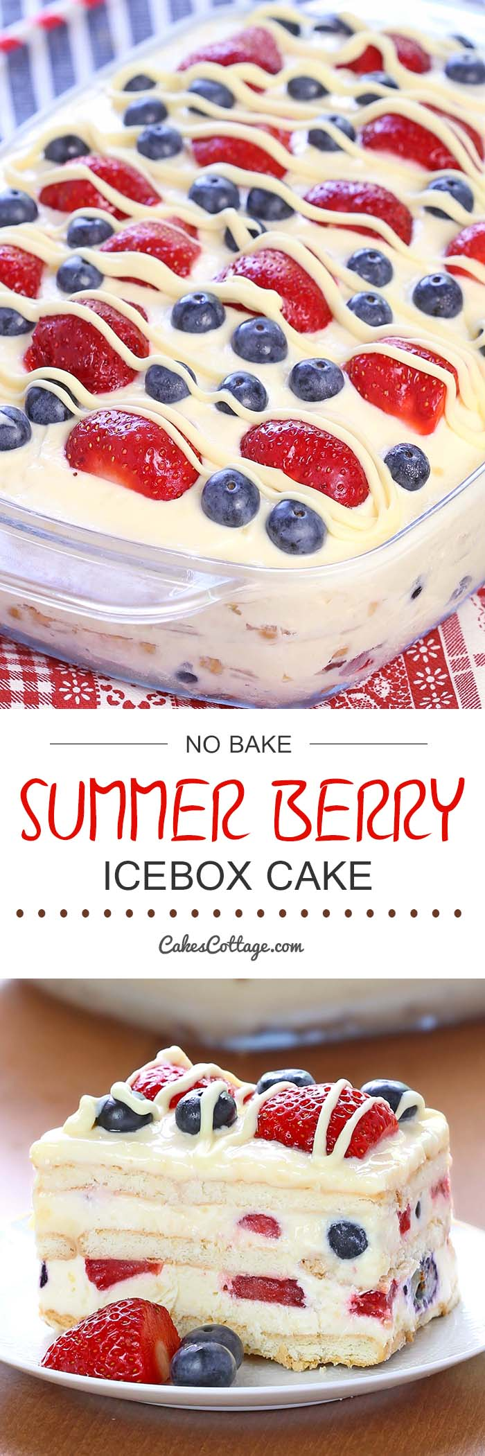 Cakescottage No Bake Summer Berry Icebox Cake Recipe