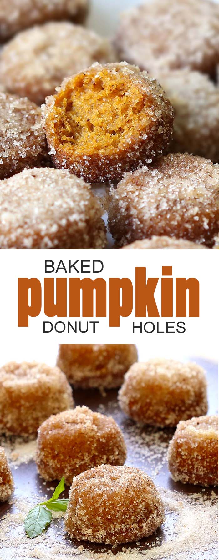 Baked Pumpkin Donut Holes | Cakescottage