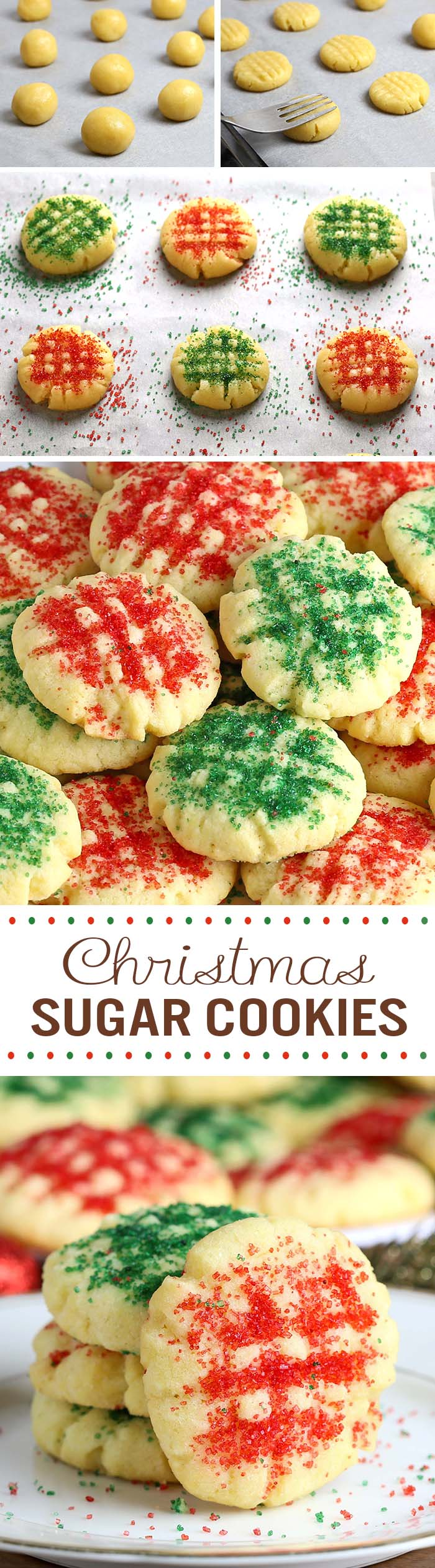 christmas sugar cookies 1c - Easy Christmas Cookie Recipes