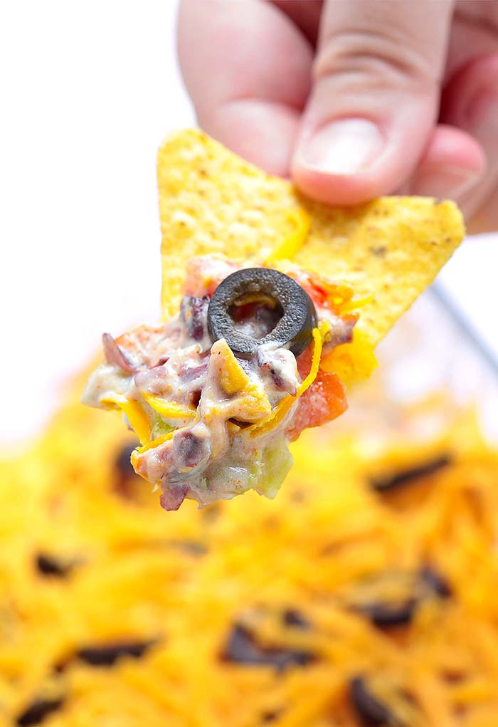 Skinny 7 Layer Dip - A must have at every large get together: birthdays, football, holidays.....