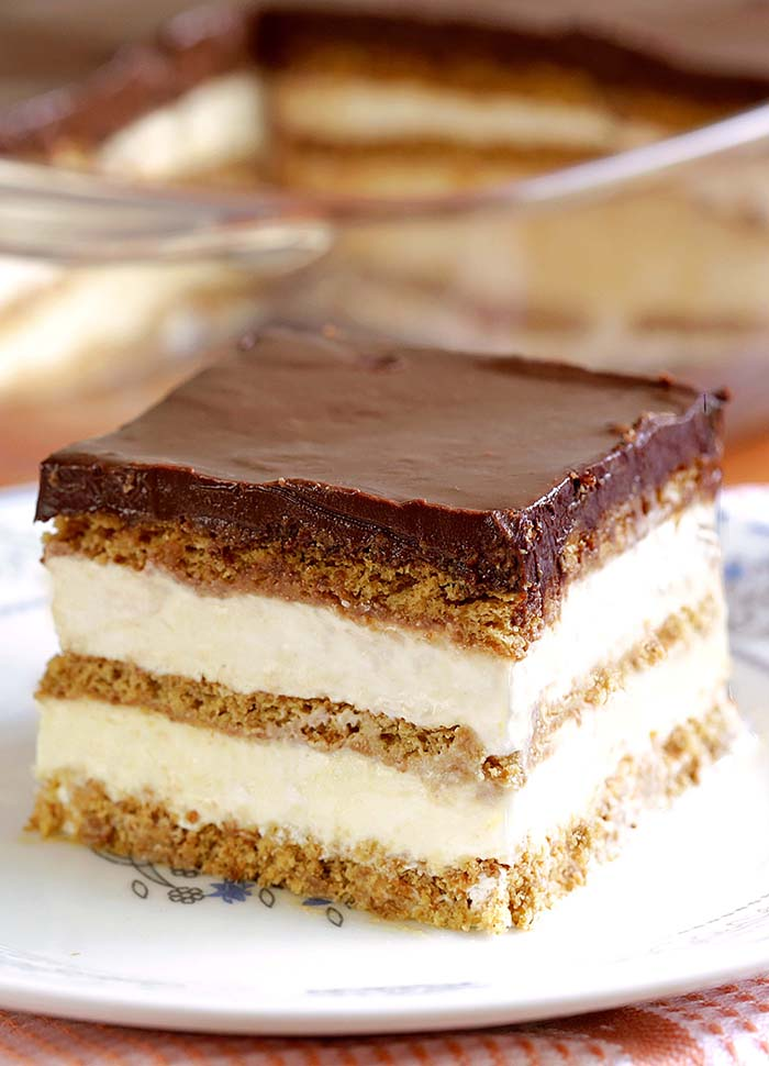 No Bake Chocolate Eclair Icebox Cake