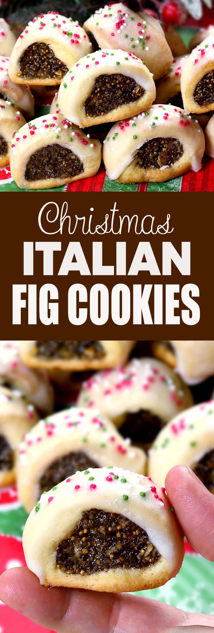 Nothing gets you in the Christmas spirit quite like making these Christmas Italian Fig Cookies, and *all* the sprinkles.