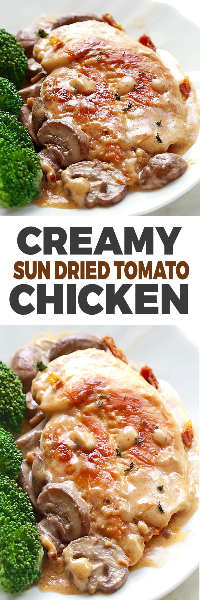 All you need is one skillet, a few fresh ingredients and soon enough you'll have restaurant style Creamy Sun Dried Tomato Chicken for dinner.