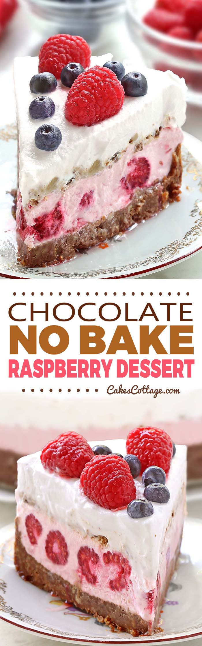Looking for a quick, easy and refreshing Summer dessert recipe? Try out delicious No Bake Chocolate Raspberry Dessert !