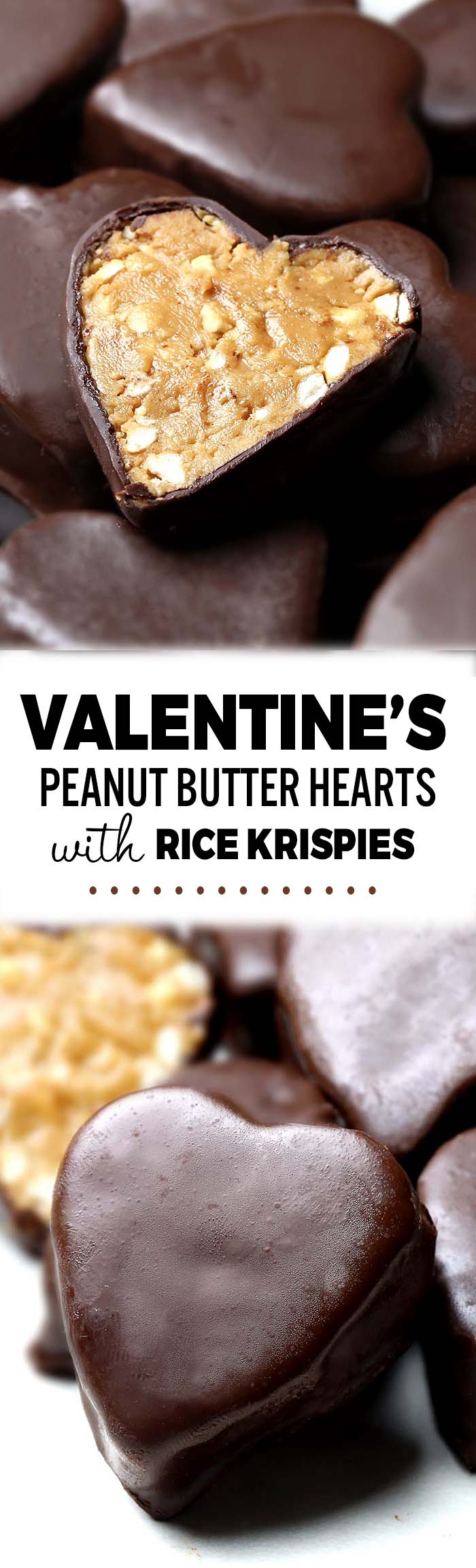 These Peanut Butter Hearts with Rice Krispies are everything you'd want in a mini dessert, and the perfect way to show them you care, from friends to family and everyone in between.