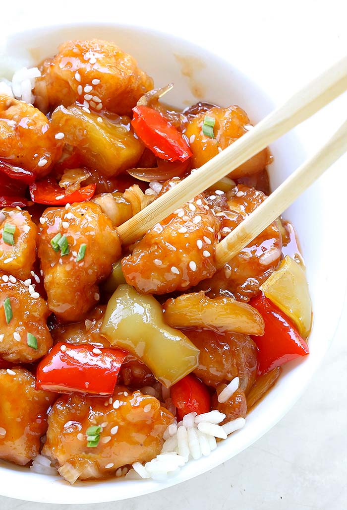 Easy Sweet And Sour Chicken Cakescottage