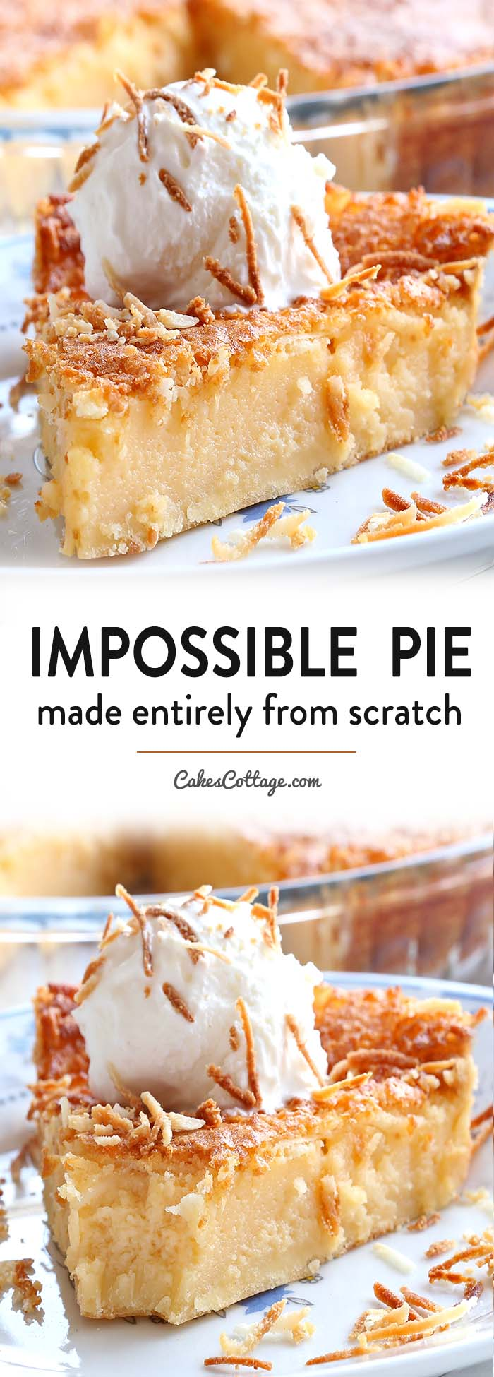 Impossible Pie is the easiest pie you will ever bake, it makes its own crust and two delicious layers while baking.!