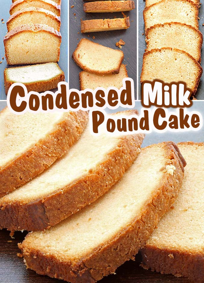 THE BEST POUND CAKE you will EVER try ! Pound cake with condensed milk recipe will surely become a classic in your home.