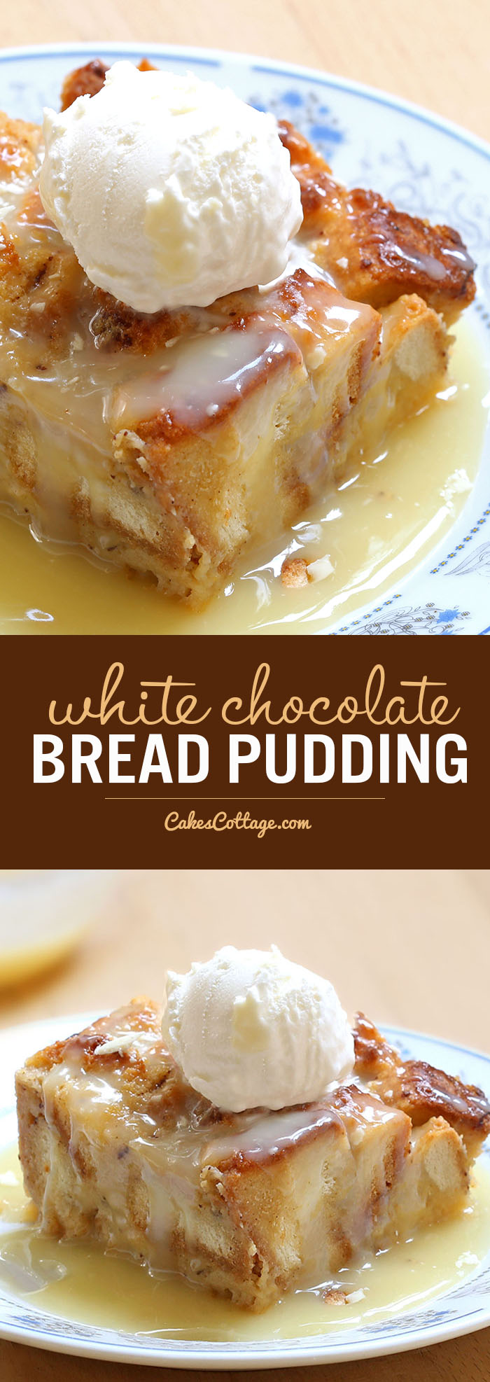 Rich, warm and comforting<strong> white chocolate pudding</strong>, served with decadent semi-sweet white chocolate sauce, represents everything I love about the holidays.